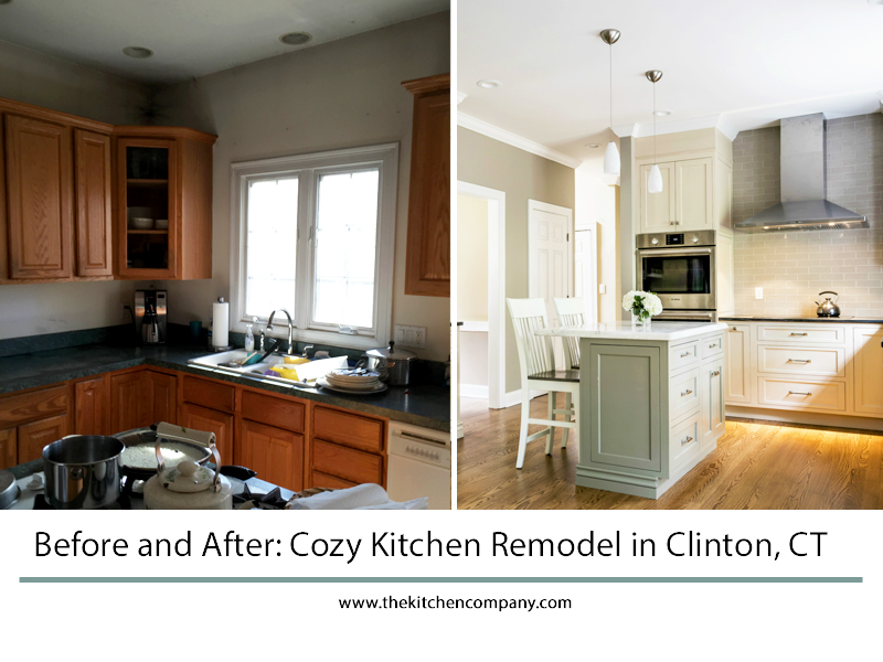 Before And After Cozy Kitchen Remodel In Clinton, CT
