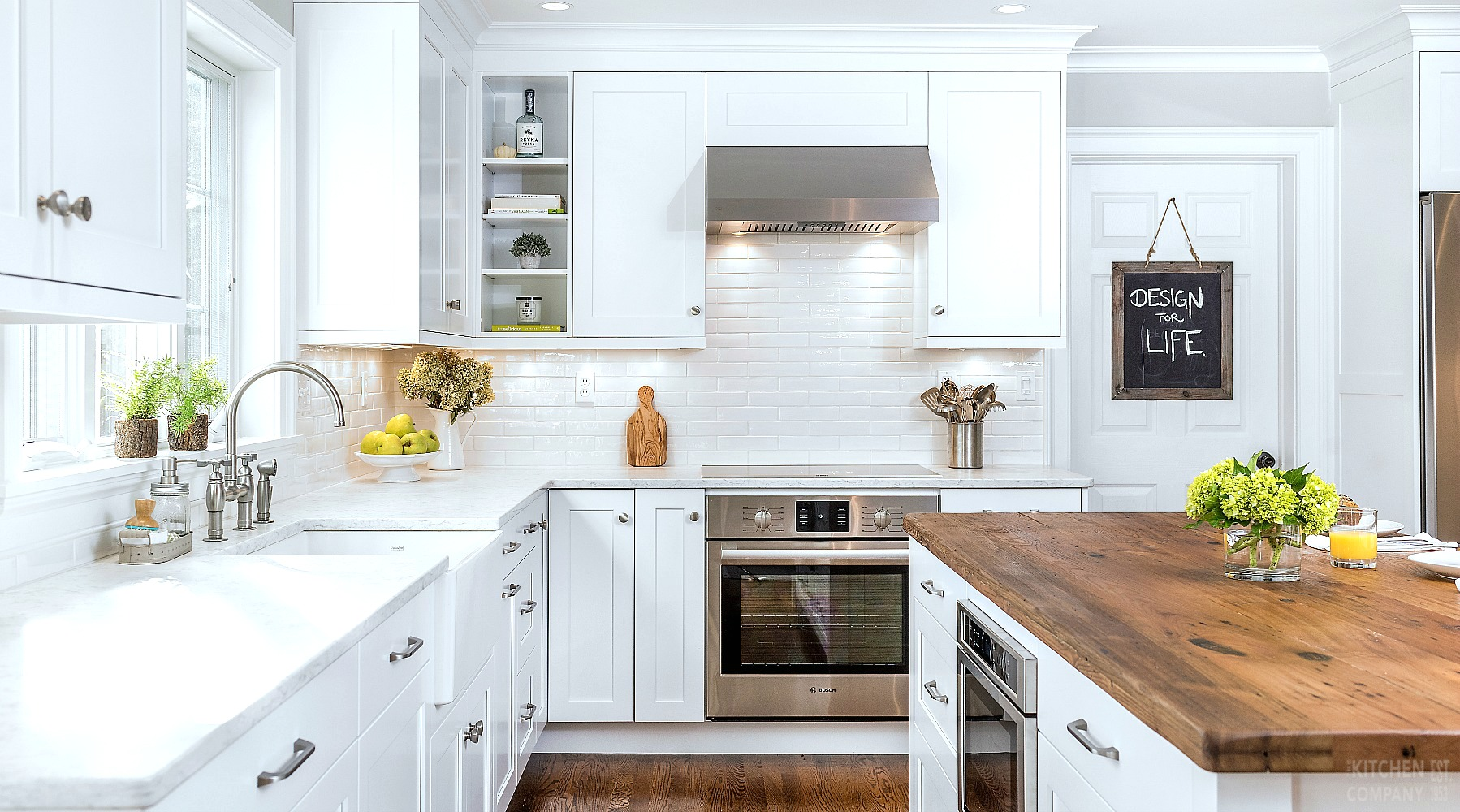 Kitchen Before and After: Fresh Farmhouse Kitchen in North Haven, CT