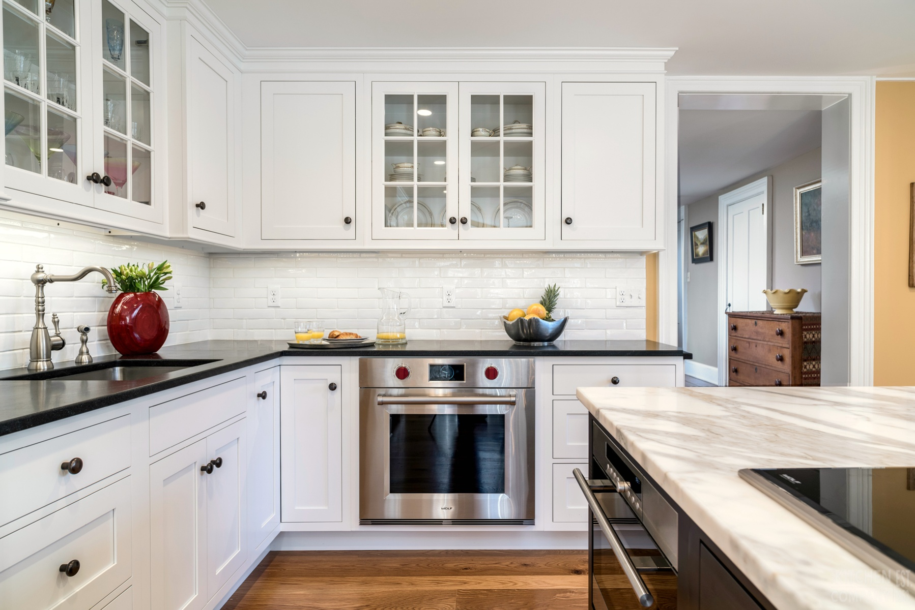 Traditional Kitchen With Farmhouse Flair In Madison Ct The Kitchen Company