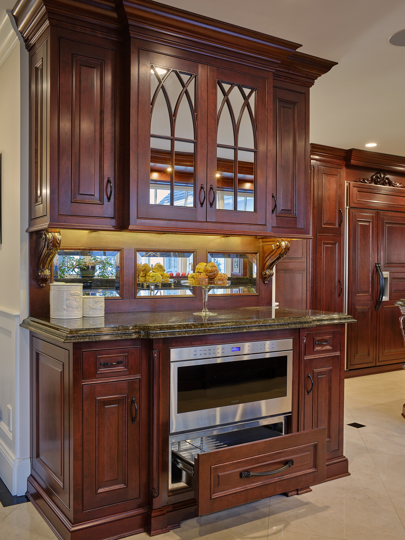 Elegant Cherry Kitchen Design in Westport CT | The Kitchen ...