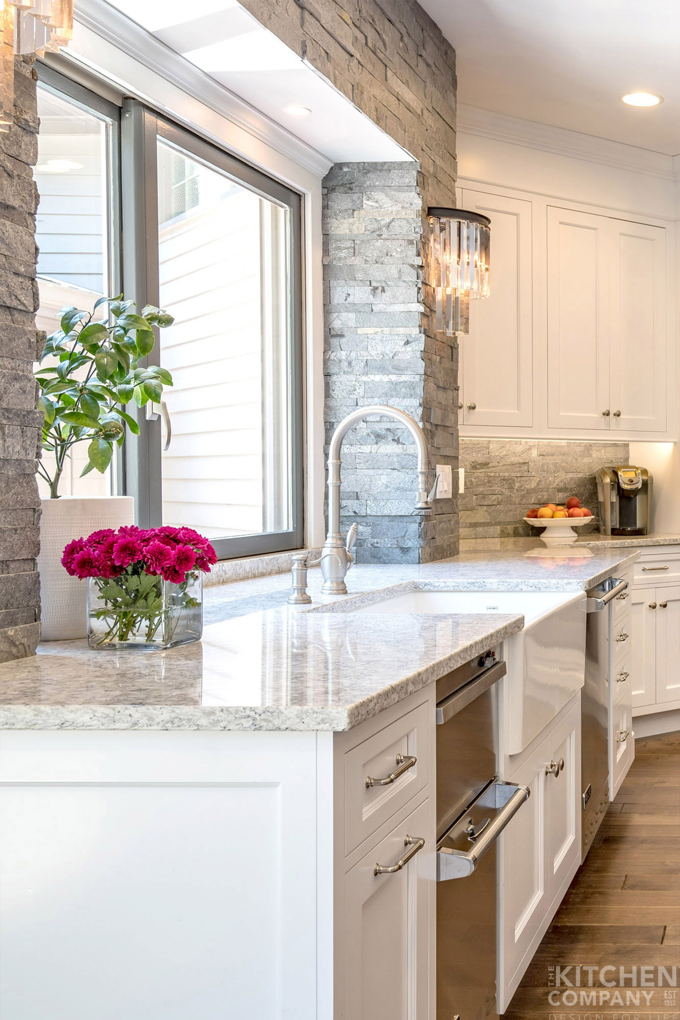 Traditional Gray and White Kitchen in Cheshire, CT | White ...