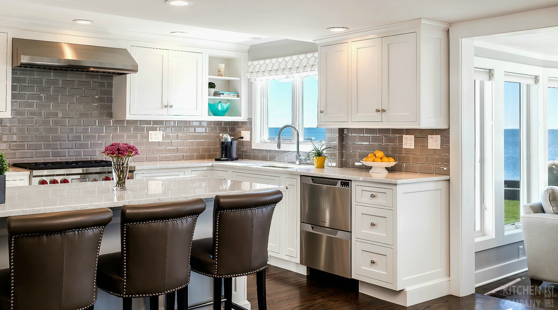 Beach House Kitchen in Guilford, CT | Transitional Kitchens ...