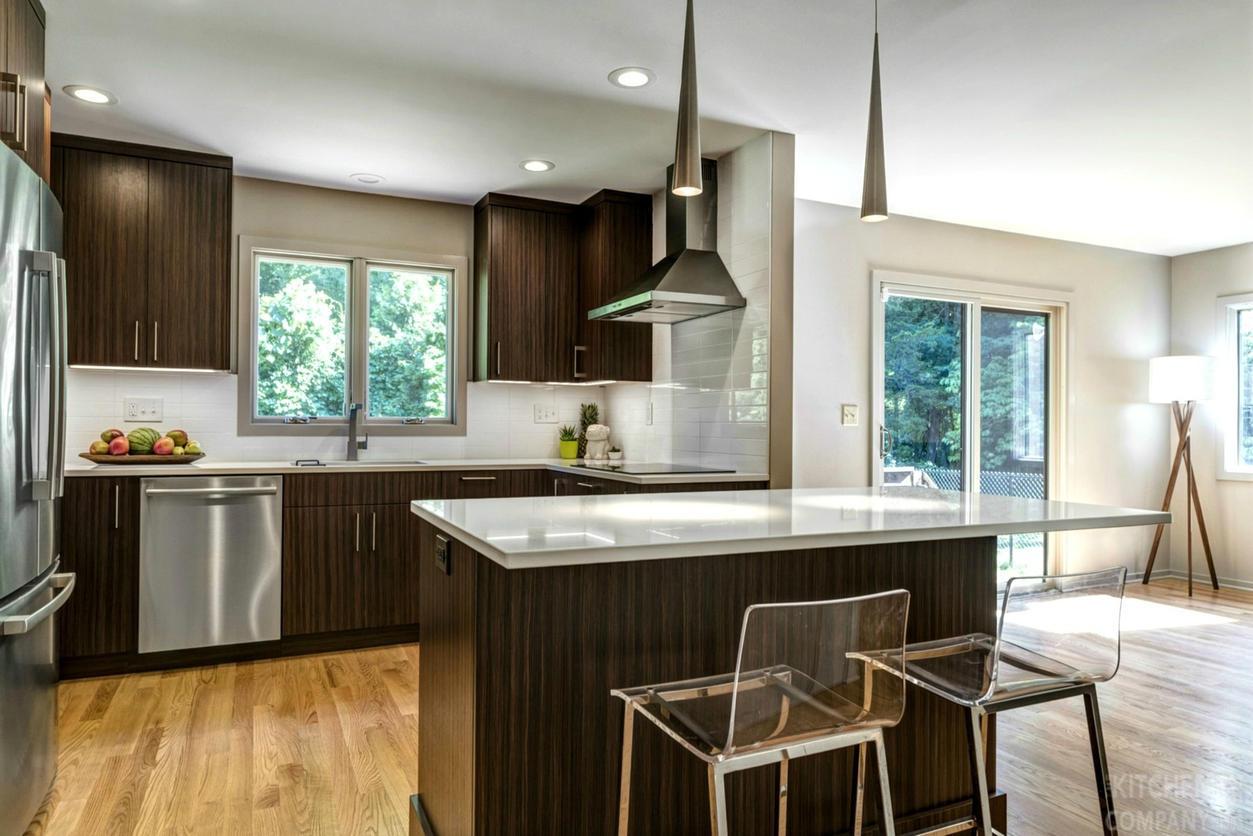 Midcentury modern kitchen in guilford ct kitchen for Modern kitchen company