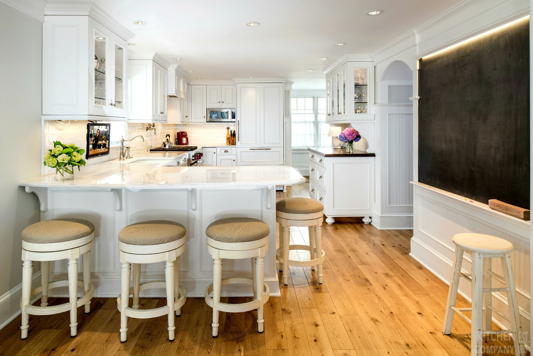 White Cottage Kitchen in Milford, CT | White Kitchen Remodel ...