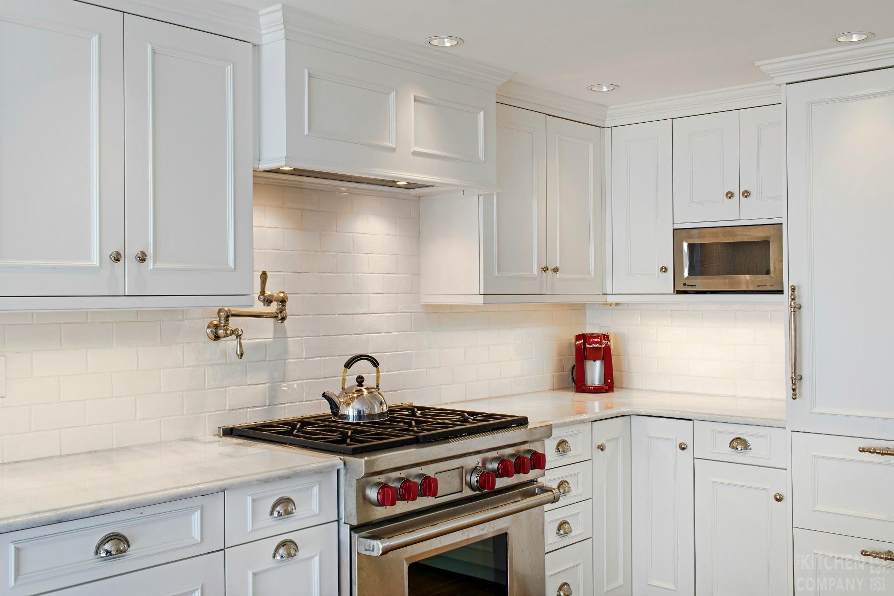 White Cottage Kitchen In Milford Ct White Kitchen Remodel Photos