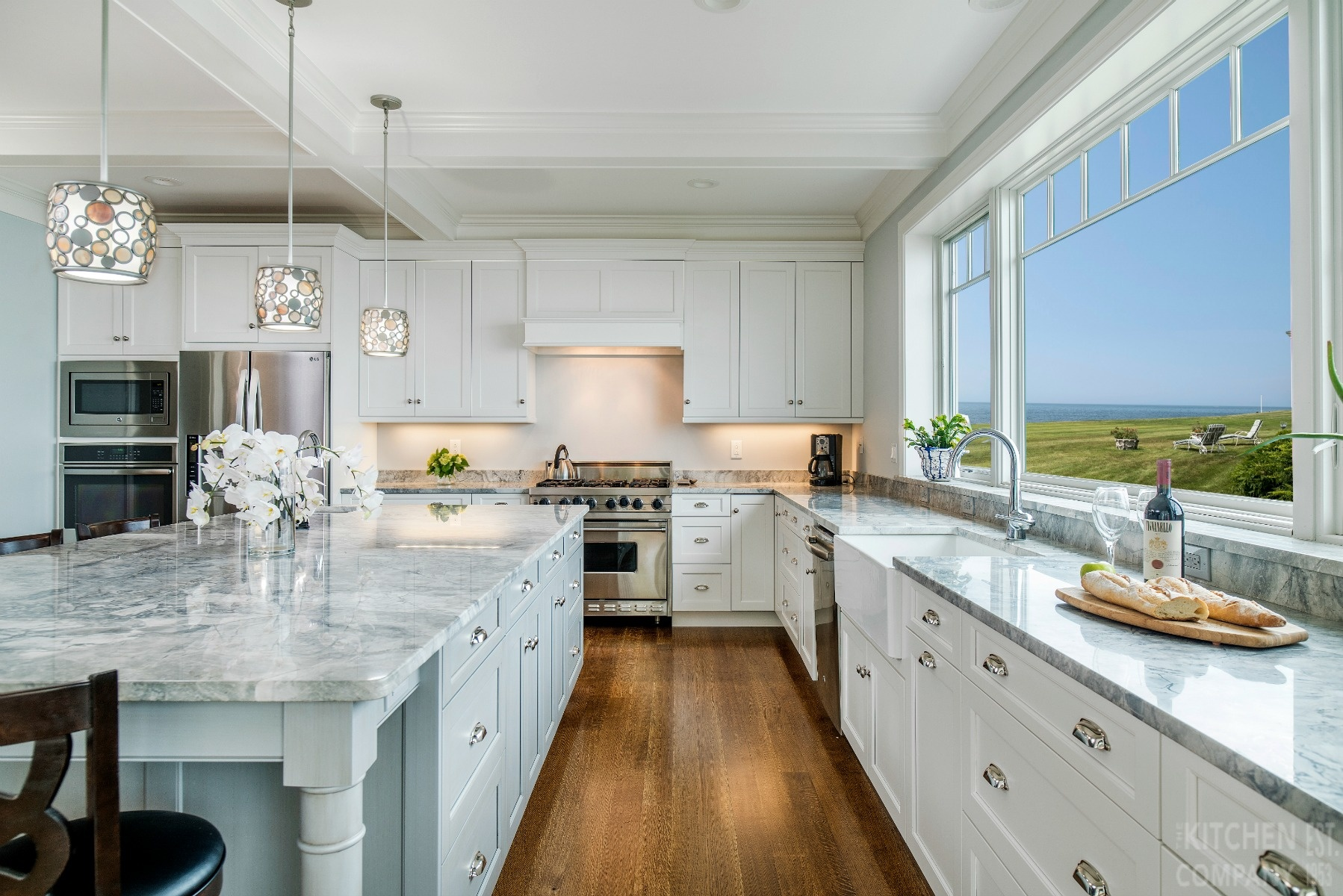 White Coastal Kitchen In Branford Ct Stunning Kitchen Remodel Photos