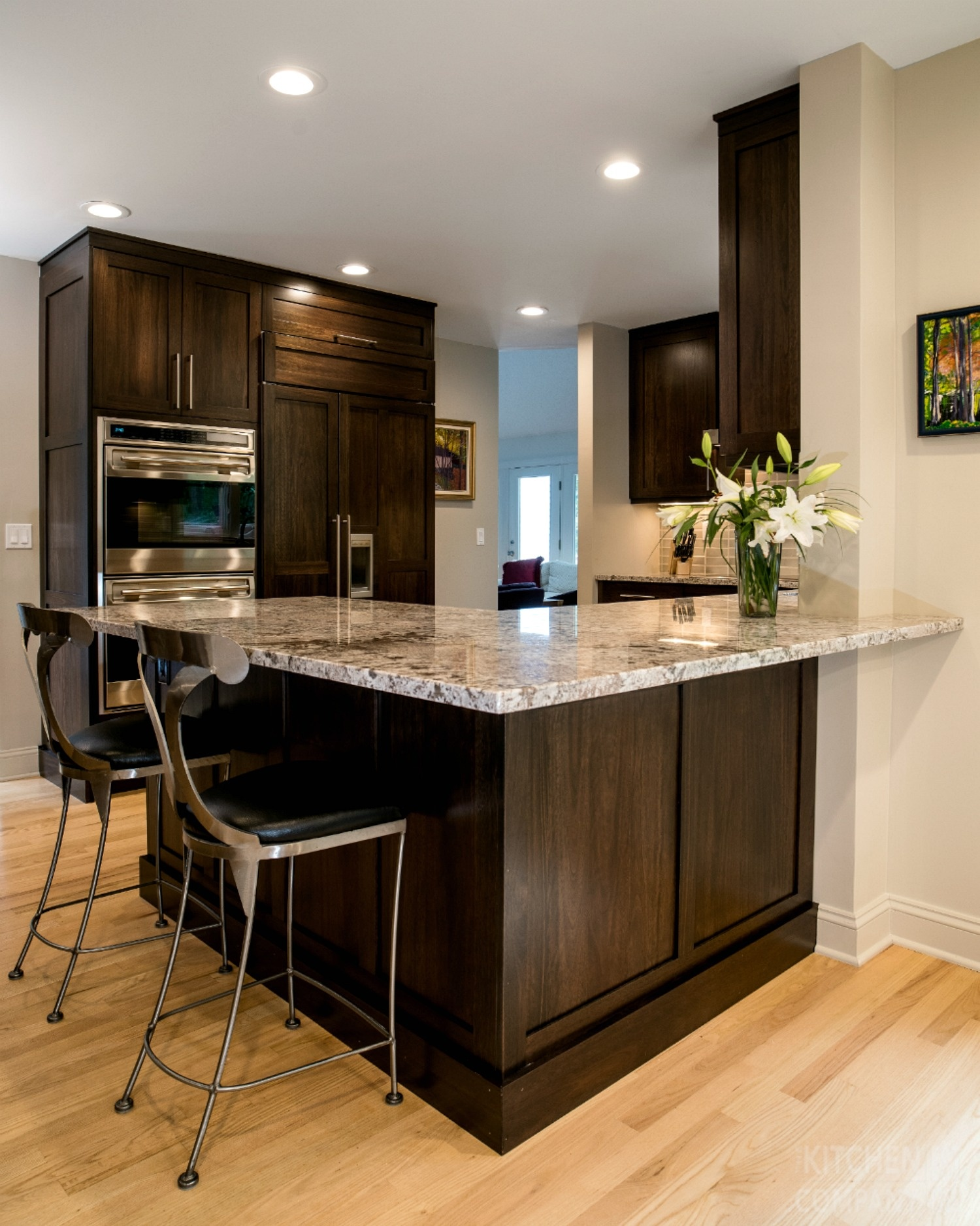 Contemporary Kitchen Remodel In Guilford Ct Dark Wood